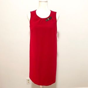 Tommy Hilfiger red sleeveless buckle shift dress